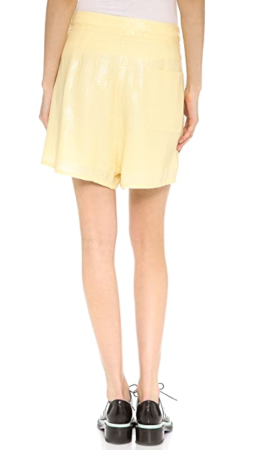 Acne Studios Tine Paillette Embellished Shorts