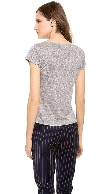 Acne Studios Copy Linen Cap Sleeve T-Shirt