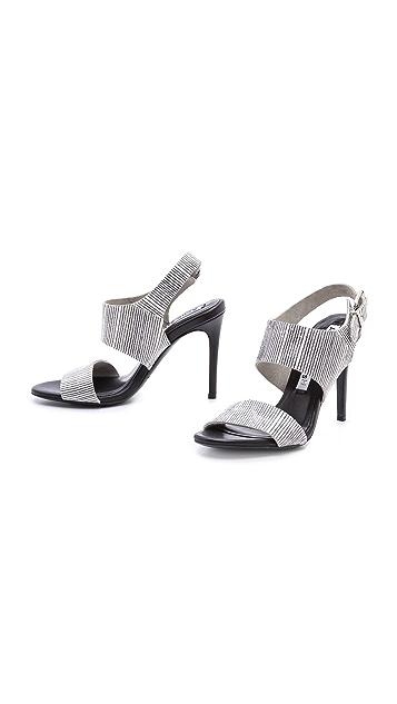 Acne Studios Tillie Snakeskin Sandals
