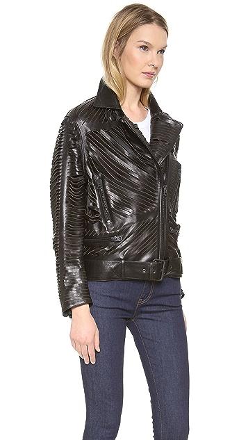 Acne Studios Shredded Leather Motorcyle Jacket