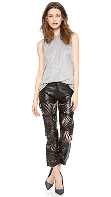 Acne Studios Destroyed Leather Pants
