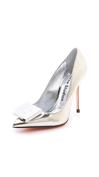 Acne Studios Alivia Metallic Pumps
