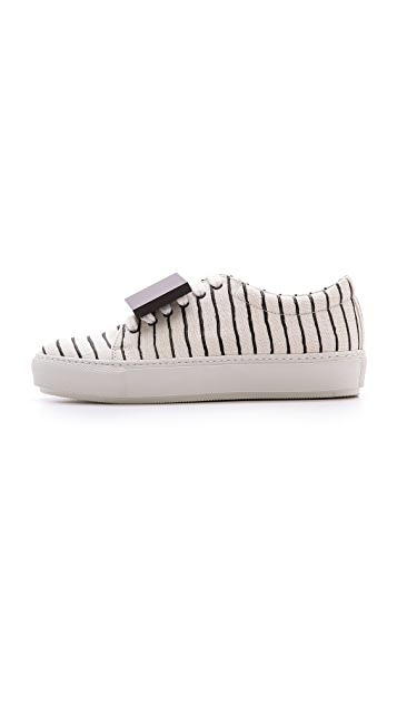 Acne Studios Adriana Striped Sneakers