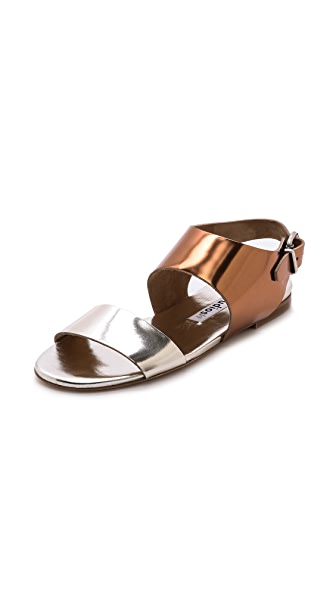 Acne Studios Lottie Metallic Flat Sandals