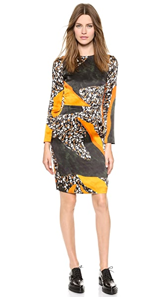 Acne Studios Noble Printed Silk Dress