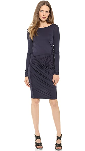 Acne Studios Vied Drape Dress