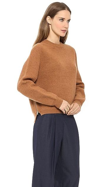 Acne Studios Misty Boiled Wool Zip Sweater