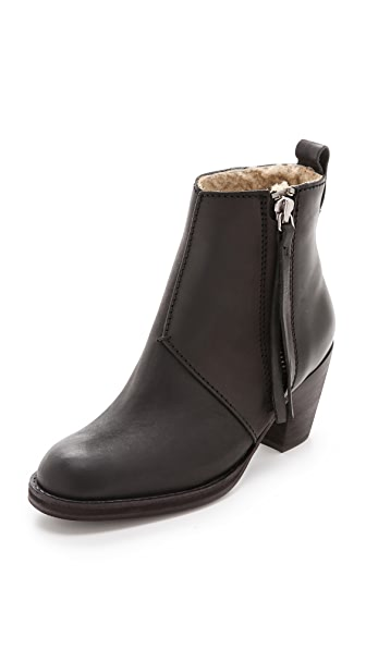 Acne Studios Pistol Ankle Boots with Shearling Lining