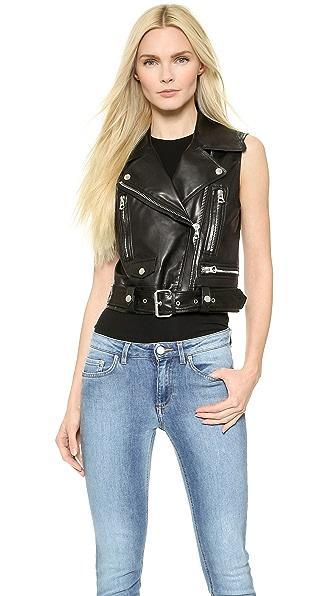 Acne Studios Selby Leather Moto Vest