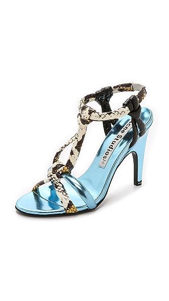 Kupi Acne Studios online i prodaja Acne Studios Bira Met Mix Sandals Ice Blue haljinu online