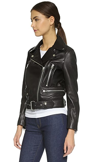 Acne Studios Leather Moto Jacket