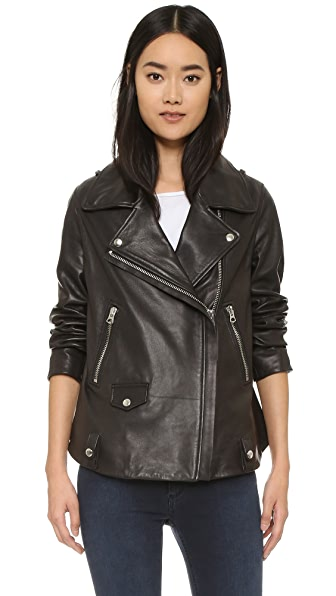 Acne Studios Swift Leather Jacket - Black