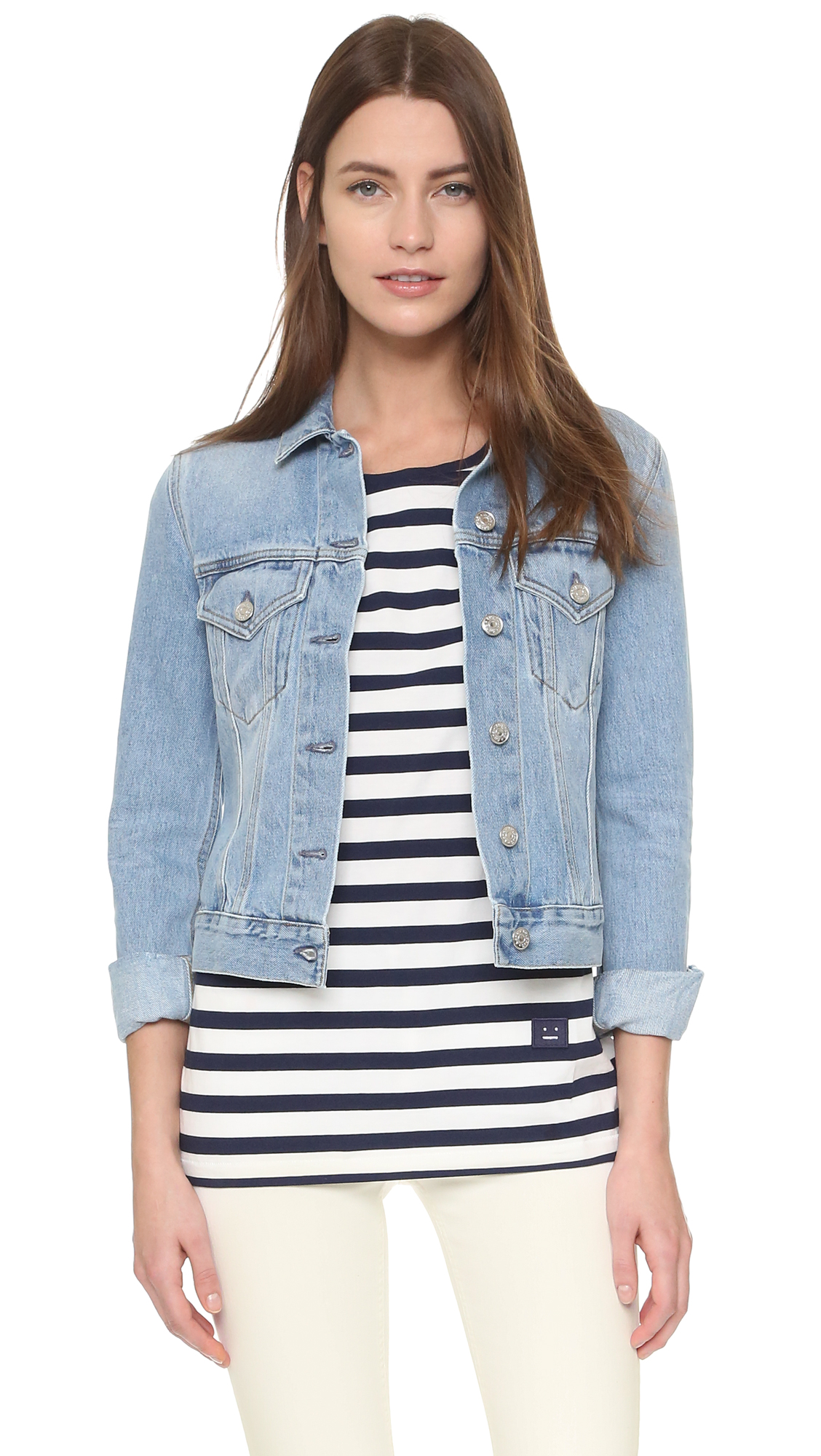 Acne Studios Top Denim Jacket - Light Vintage at Shopbop