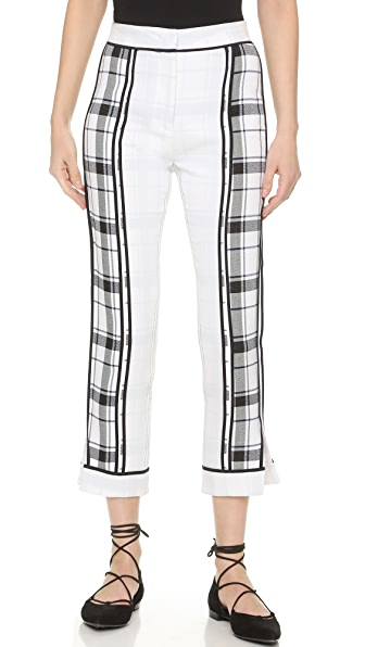 Acne Studios Olwyn Frosted Pants - Blue Check at Shopbop