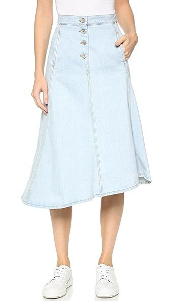acne studios kady denim skirt shopbop