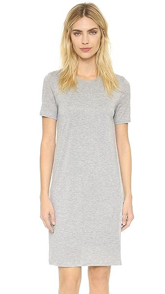 Acne Studios Obelia Tencel Tee Dress - Grey Melange at Shopbop