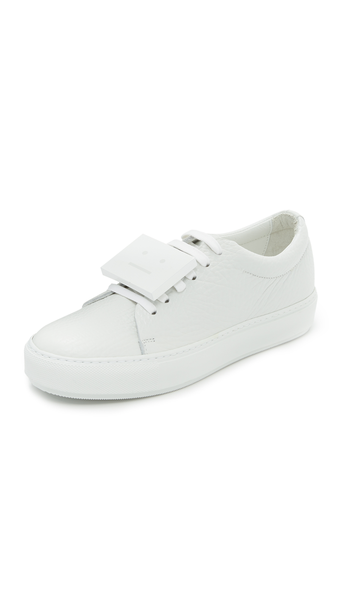 Acne Studios Adriana Grain Sneakers - White at Shopbop