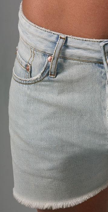 Acne Generic Girl Denim Shorts