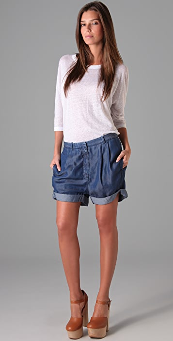 Acne Auris Chambray Shorts