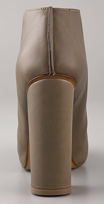 Acne Treat Flared Ankle Booties