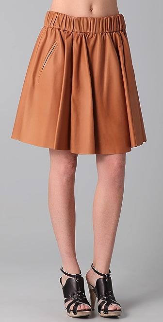 Acne Romantic Lea Leather Skirt