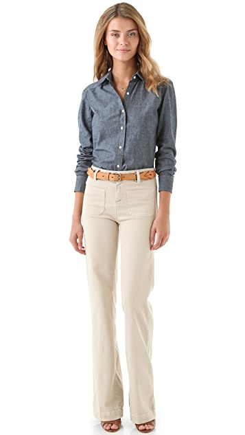 Acquaverde High Waisted Bell Bottom Jeans