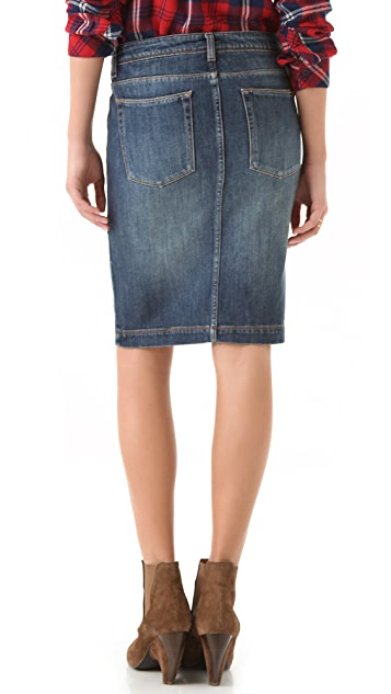 Acquaverde Denim Pencil Skirt