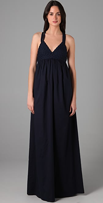 ADAM Basket Weave Long Dress