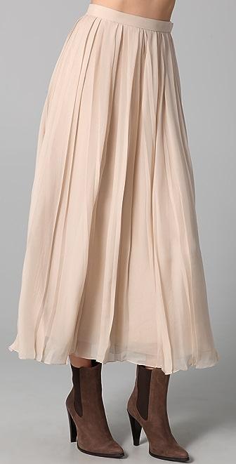ADAM Long Pleated Skirt