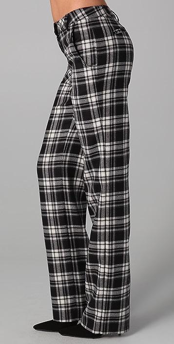 ADAM Plaid Straight Leg Pants
