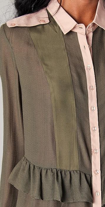 ADDISON Ruffle Waist Shirt