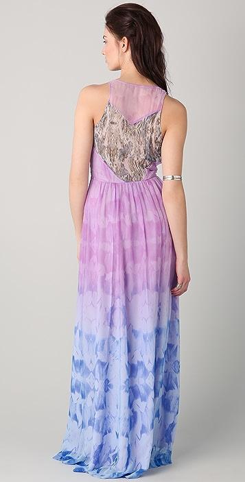 ADDISON Mix Print Maxi Dress
