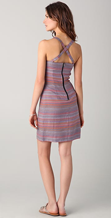 ADDISON Striped Linen Dress