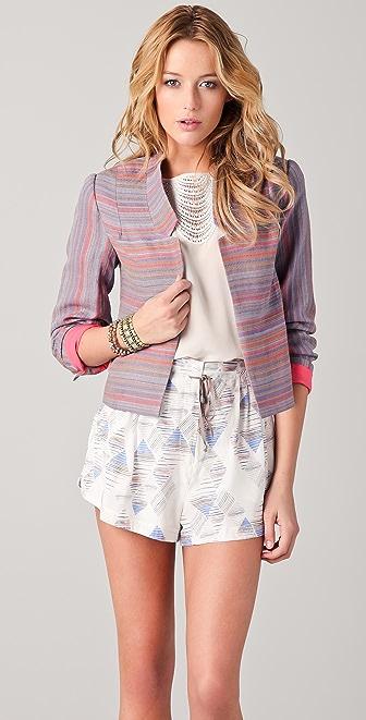 ADDISON Striped Linen Jacket