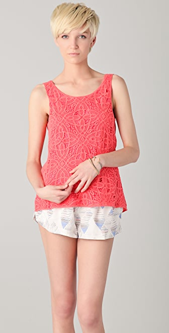 ADDISON Crochet Cowl Back Top