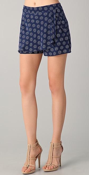 ADDISON Overlap Drape Shorts