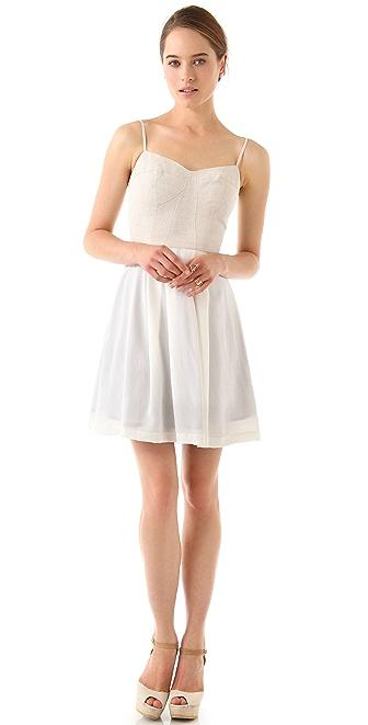 ADDISON Contrast Cage Dress