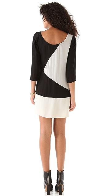 ADDISON Geometric Colorblock Dress