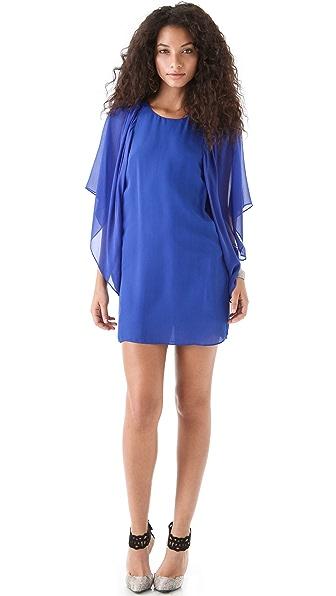 ADDISON Cascading Sleeve Dress