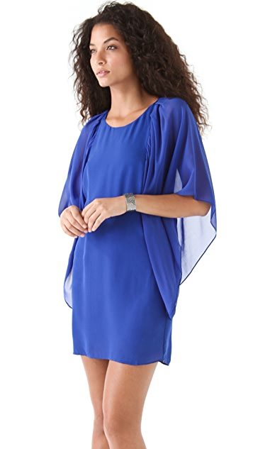 ADDISON Cascading Sleeve Dress
