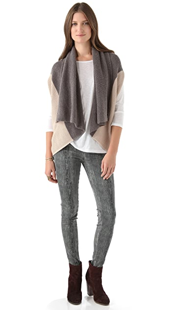 ADDISON Seamed Cocoon Sweater