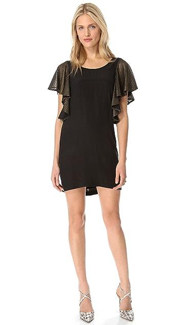 ADDISON Flutter Sleeve Dress