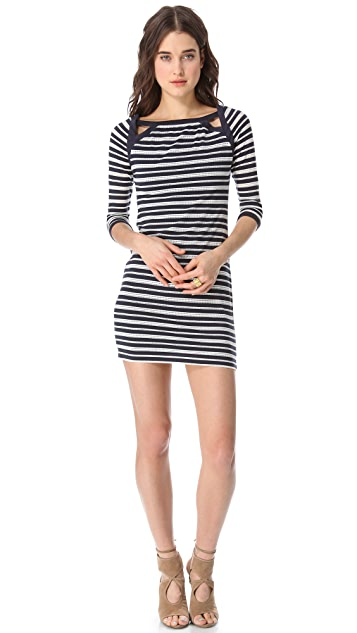 ADDISON Pointelle Jersey Dress