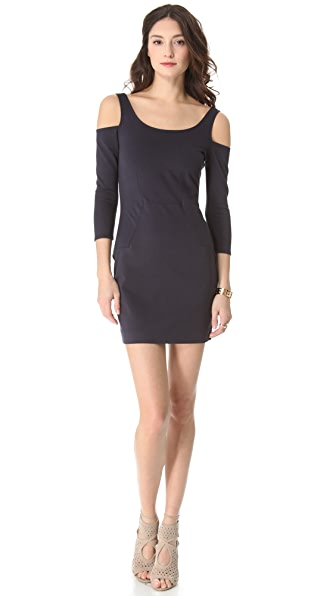 ADDISON Fitted Cold Shoulder Dress