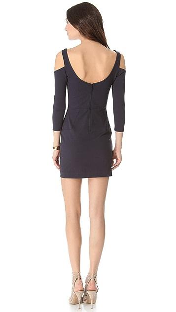 ADDISON Fitted Cold Shoulder Dress