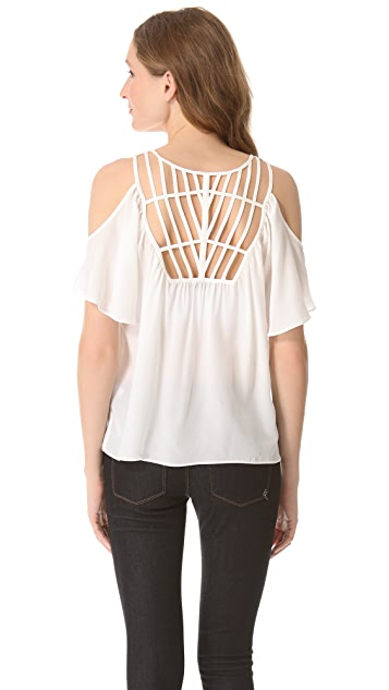 ADDISON Cage Cold Shoulder Top