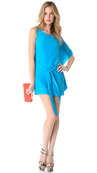 ADDISON Cascading One Shoulder Dress