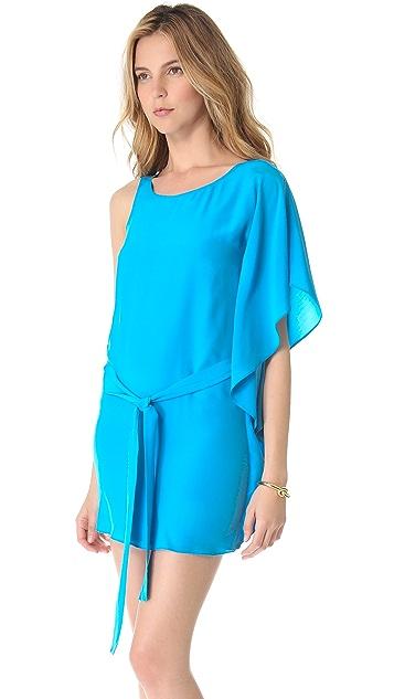 ADDISON Cascading One Shoulder Dress