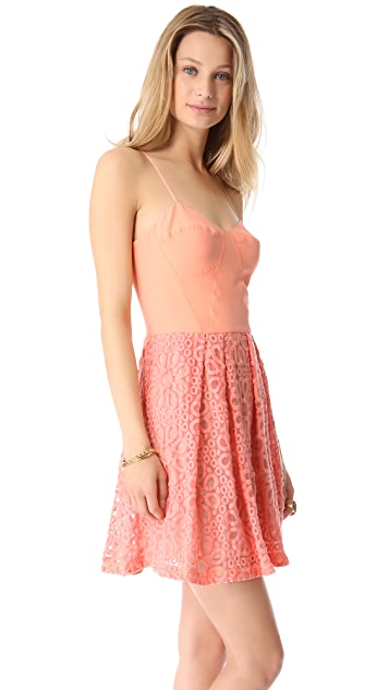 ADDISON Embroidered Lace Dress