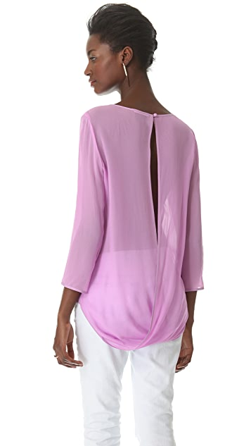 ADDISON Back Slit Draped Top